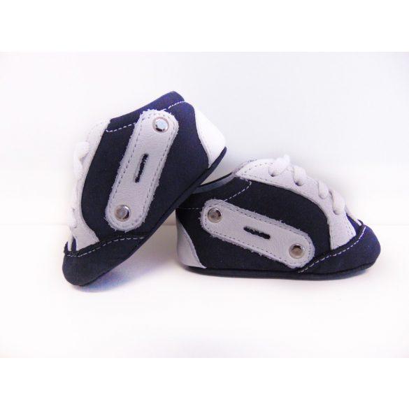 Maus bébi kocsicipő, s.kék-fehér